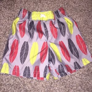 Circo Gray Swimming Trunks red yellow and black
